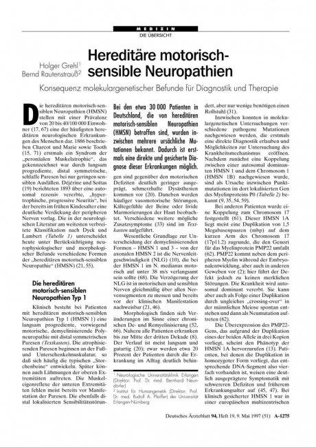 Hereditäre motorisch- sensible Neuropathien