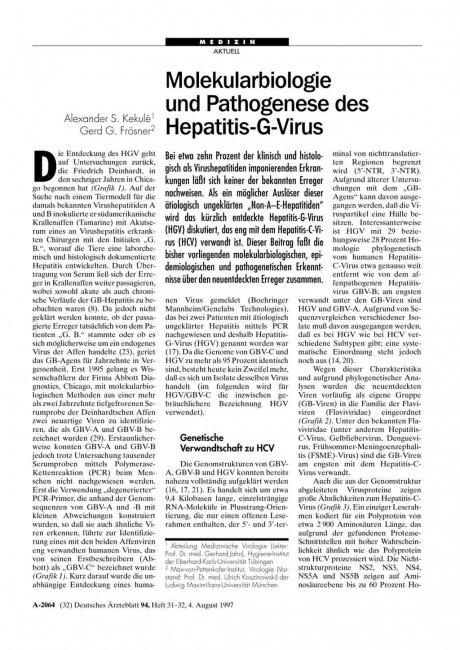 Molekularbiologie und Pathogenese des...