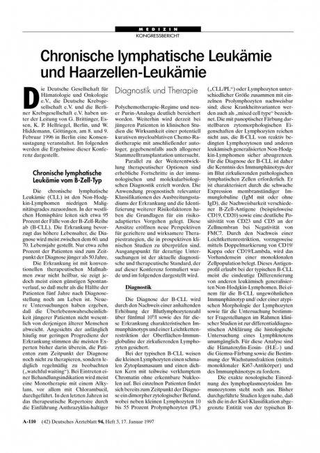 Chronische lymphatische Leukämie und...