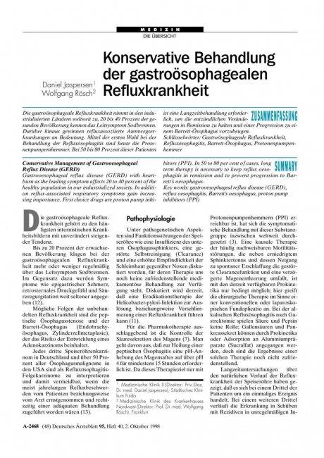 Konservative Behandlung der gastroösophagealen...