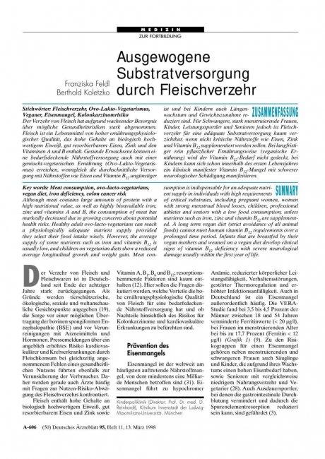 Ausgewogene Substratversorgung durch...