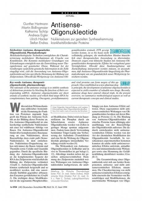 Antisense-Oligonukleotide