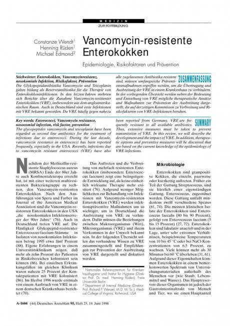 Vancomycin-resistente Enterokokken