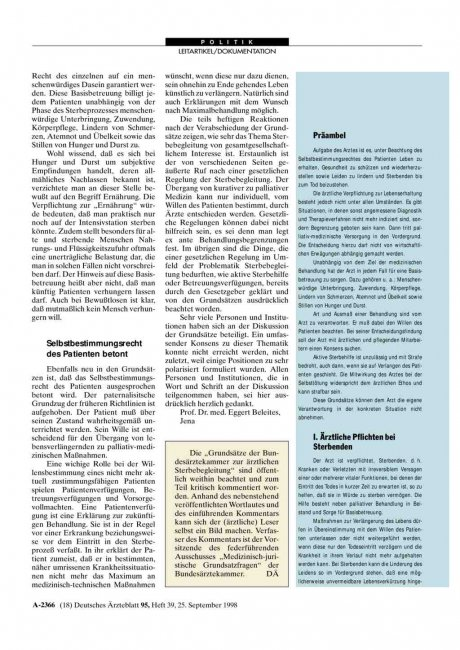 Grundsätze der Bundesärztekammer zur ärztlichen...