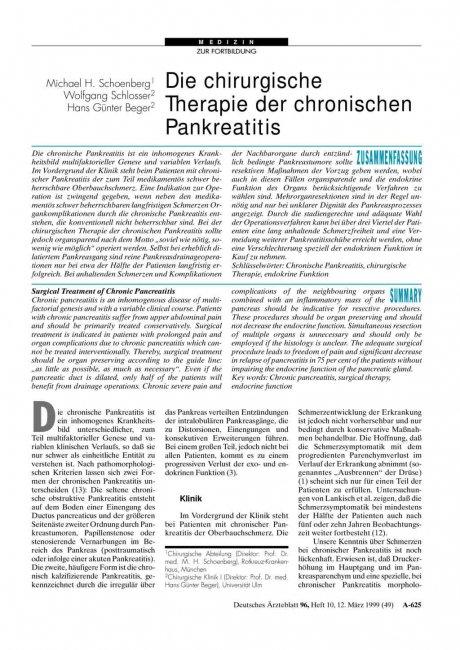 Die chirurgische Therapie der chronischen...