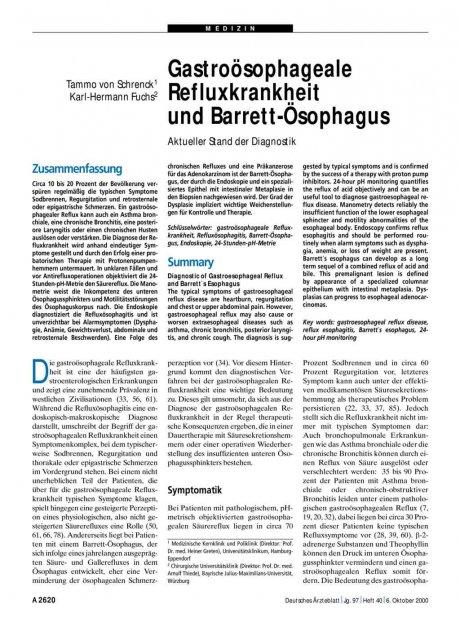 Gastroösophageale Refluxkrankheit und...