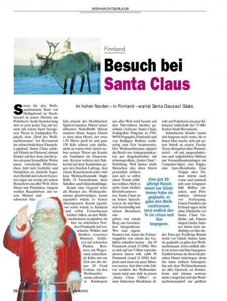 Finnland: Besuch bei Santa Claus