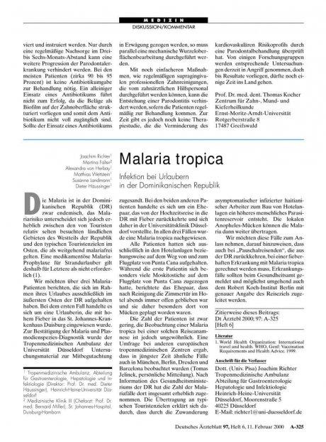 Malaria tropica