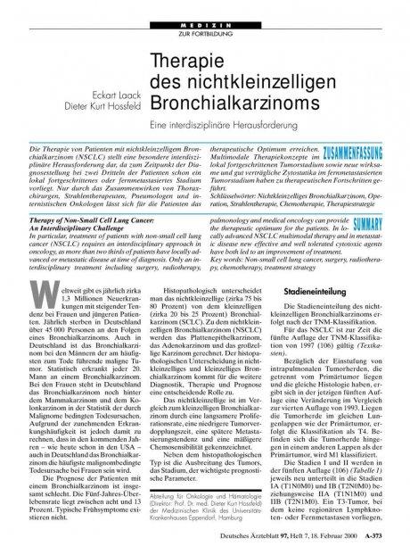 Therapie des nichtkleinzelligen Bronchialkarzinoms