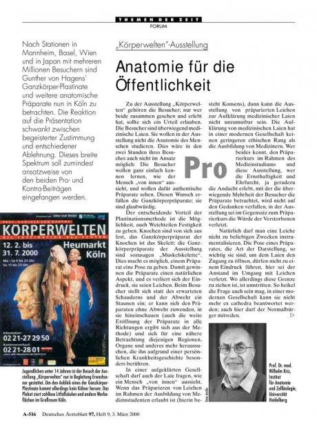 """Körperwelten""-Ausstellung"