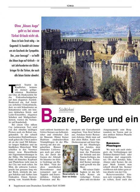 """Südtürkei: Bazare, Berge und ein """"blaues Auge"""""""