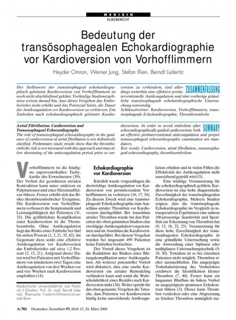 Bedeutung der transösophagealen Echokardiographie...