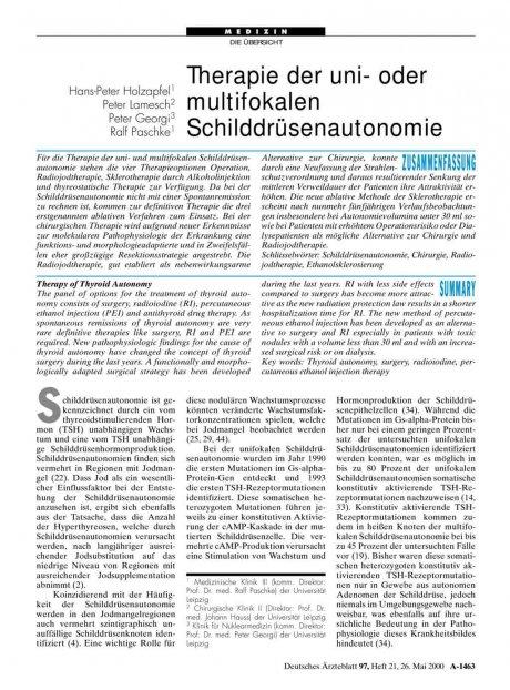 Therapie der uni- oder multifokalen...