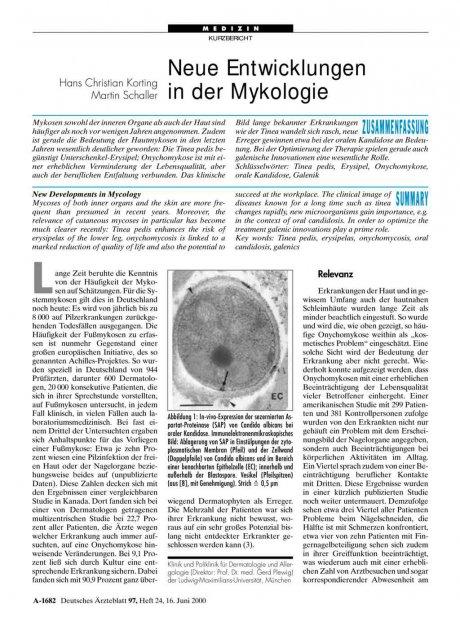 Neue Entwicklungen in der Mykologie