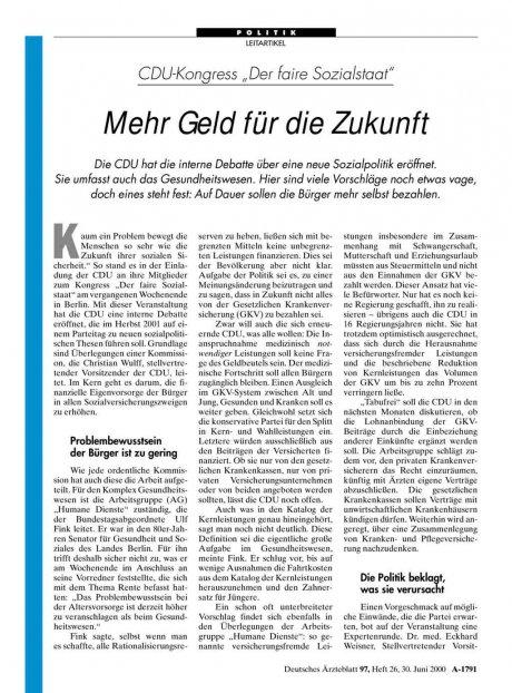 """CDU-Kongress """"Der faire Sozialstaat"""""""