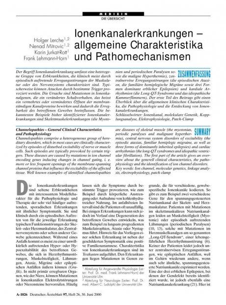 Ionenkanalerkrankungen – allgemeine...