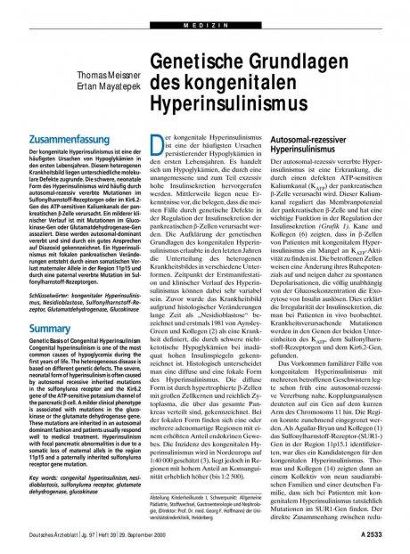 Genetische Grundlagen des kongenitalen...