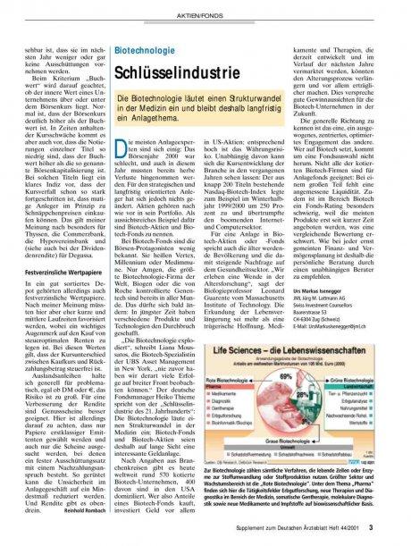 Biotechnologie: Schlüsselindustrie
