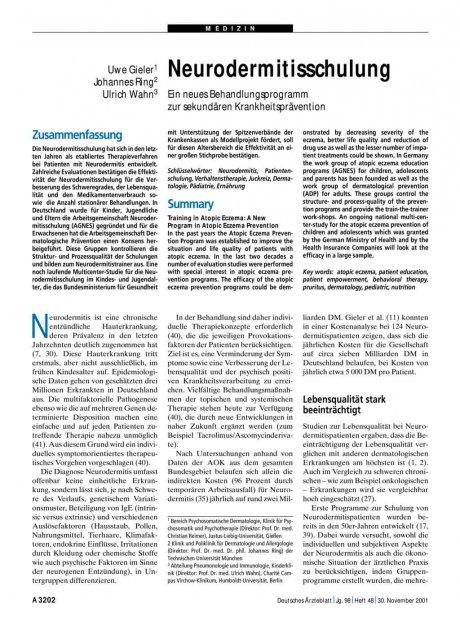 Neurodermitisschulung
