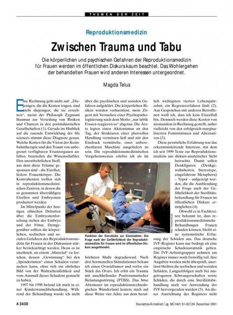 Reproduktionsmedizin: Zwischen Trauma und Tabu