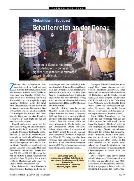 Obdachlose in Budapest: Schattenreich an der Donau