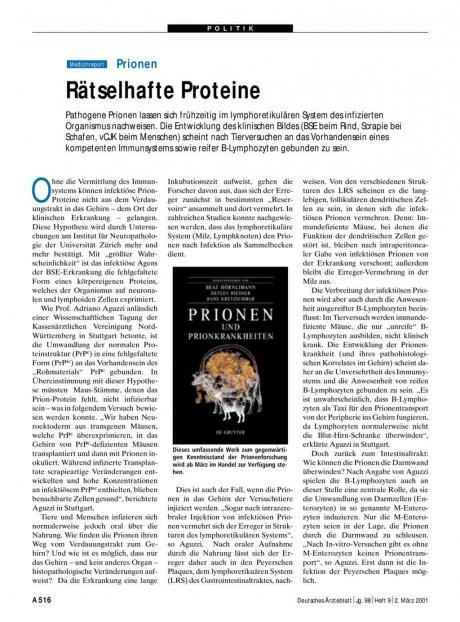 Prionen: Rätselhafte Proteine