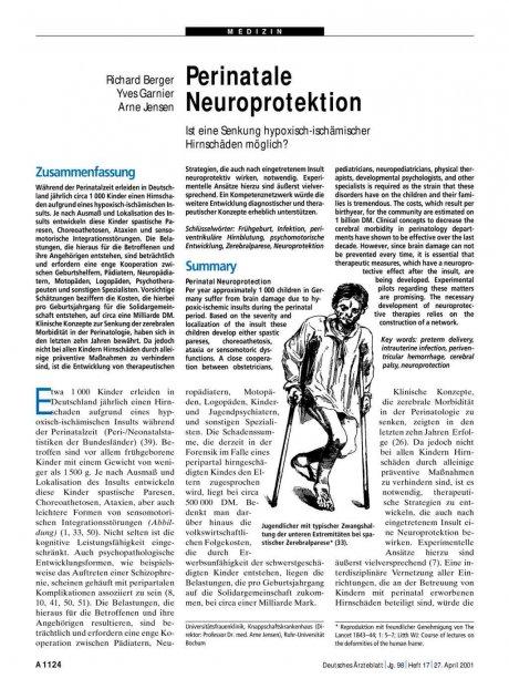 Perinatale Neuroprotektion