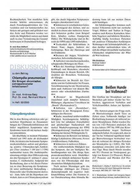 Chlamydia pneumoniae - Ein Erreger chronischer,...