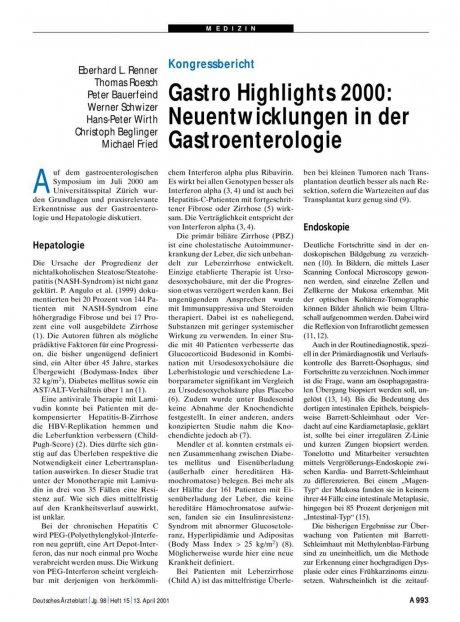 Gastro Highlights 2000