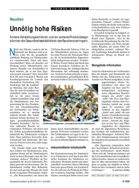 Rauchen: Unnötig hohe Risiken