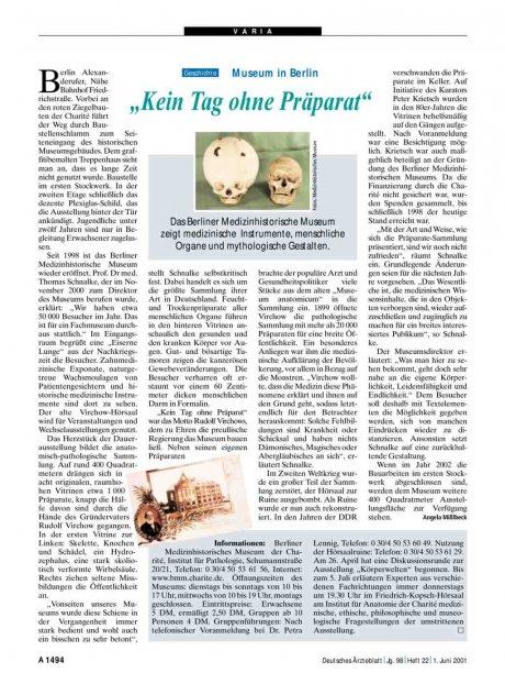 """Museum in Berlin: """"Kein Tag ohne Präparat"""""""