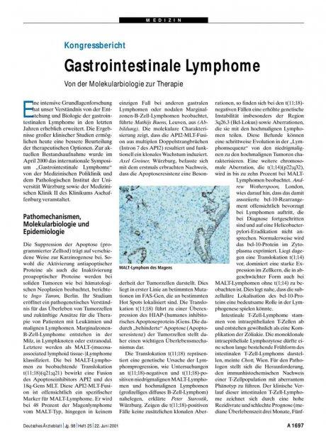 Gastrointestinale Lymphome