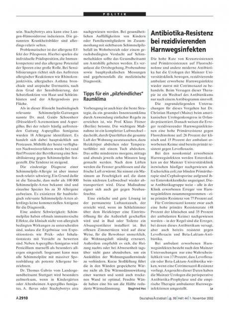 Antibiotika-Resistenz bei rezidivierenden...