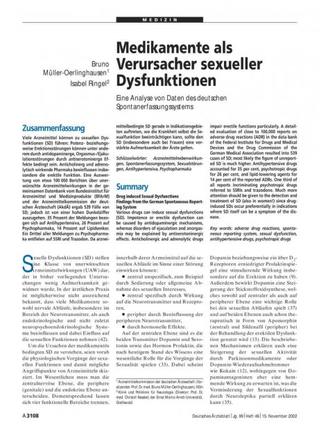 Medikamente als Verursacher sexueller...