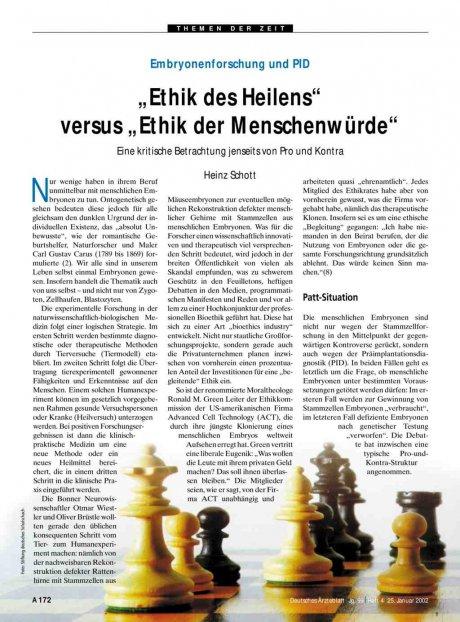 """Embryonenforschung und PID: """"Ethik des Heilens"""" versus """"Ethik der Menschenwürde"""""""