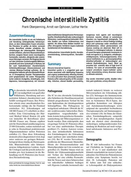 Chronische interstitielle Zystitis