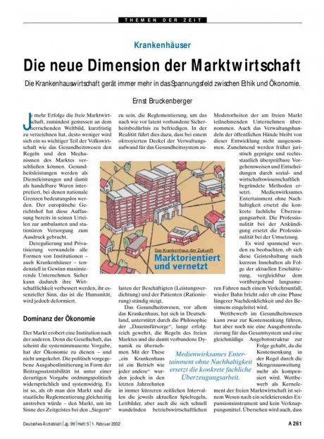 Krankenhäuser: Die neue Dimension der Marktwirtschaft