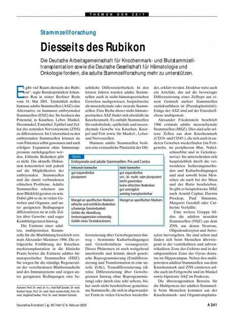 Stammzellforschung: Diesseits des Rubikon