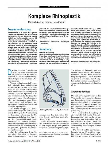 Komplexe Rhinoplastik
