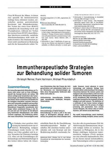 Immuntherapeutische Strategien zur Behandlung...