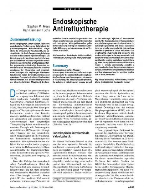 Endoskopische Antirefluxtherapie