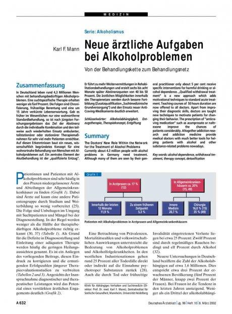 Serie - Alkoholismus