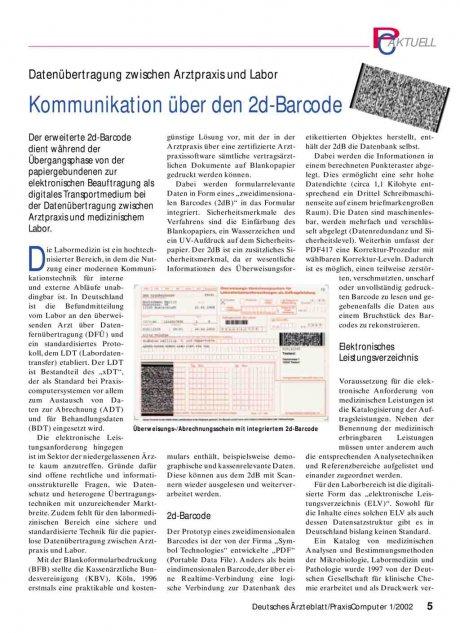 Datenübertragung zwischen Arztpraxis und Labor