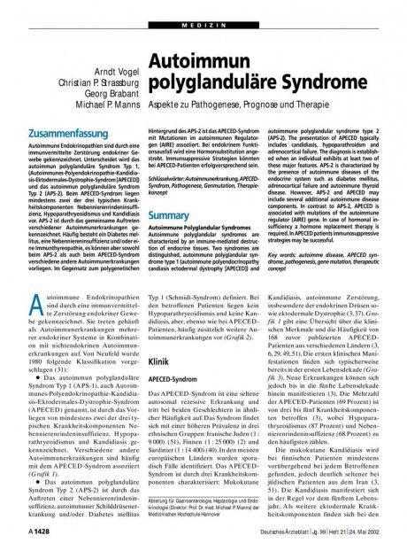 Autoimmun polyglanduläre Syndrome