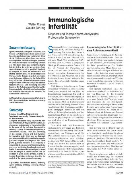 Immunologische Infertilität