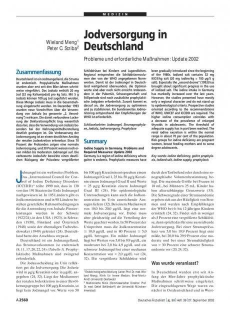 Jodversorgung in Deutschland