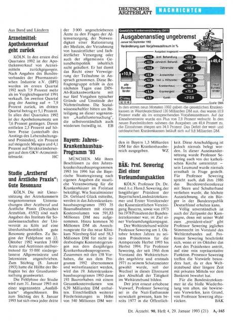 Bayern: Jahres- Krankenhausbau- Programm '93
