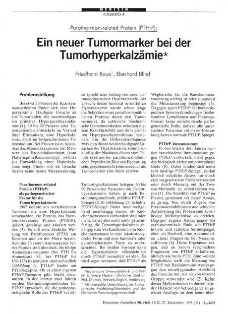 Parathormon-related Protein (PTHrP)