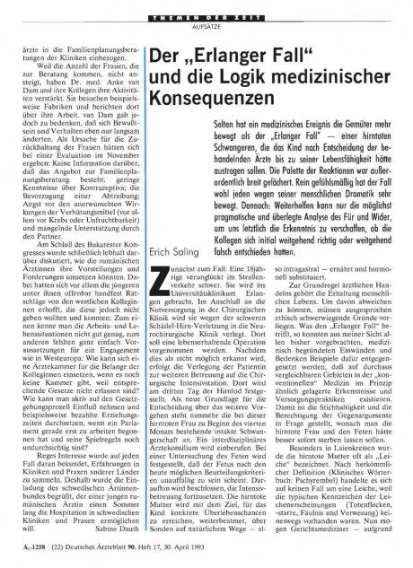 """Der """"Erlanger Fall"""" und die Logik medizinischer..."""