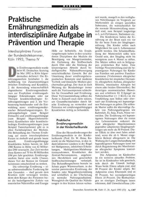 Praktische Ernährungsmedizin als interdisziplinäre...